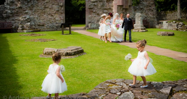 Claudine and Mike's wedding at Dryburgh Abbey, Melrose