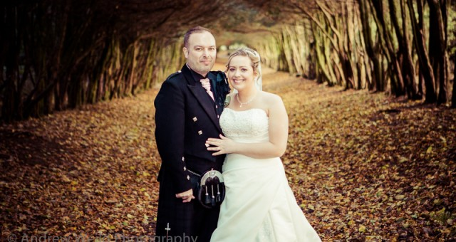 Jennifer and Andrew at Barony Castle, Peeblesshire