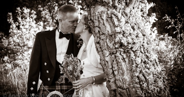 Jo and David's wedding at Peebles Registry Office
