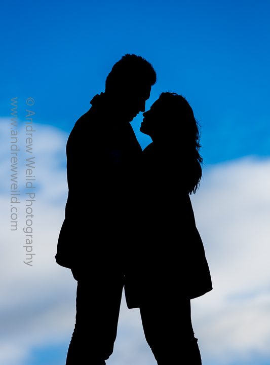 An engagement photoshoot on Calton Hill, Edinburgh