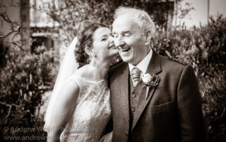 Wedding Photography Edinburgh Bride with the Happy Father