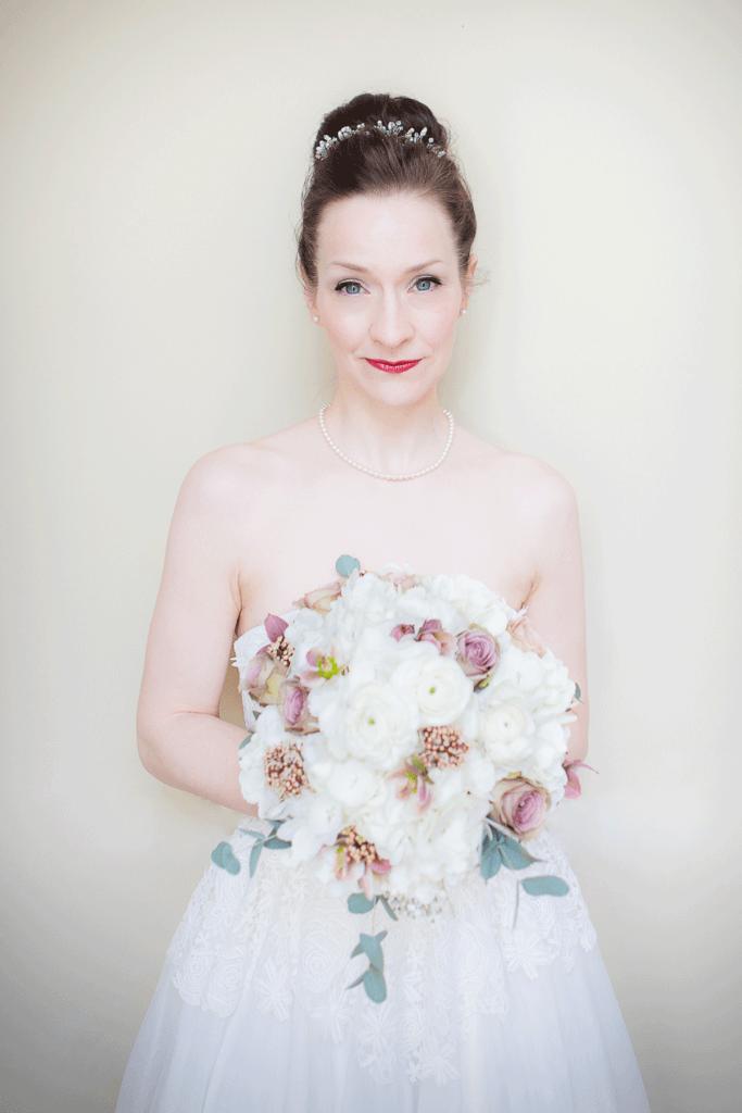 Wedding Photographer Edinburgh Bride portrait