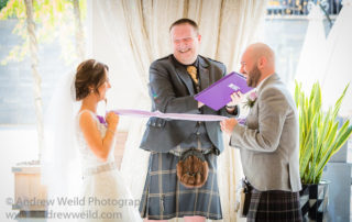 Wedding Photography Scotland Very Happy Couple Tying the Knot