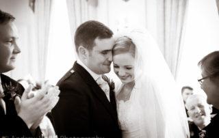 Wedding Photography Scotland Newlyweds Holding Each Other in Melville Castle Edinburgh