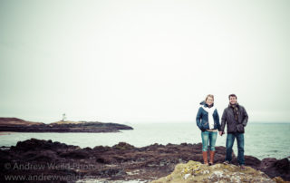 Wedding Photography Scotland Pre-Wedding Cliffside Photoshoot in Fife