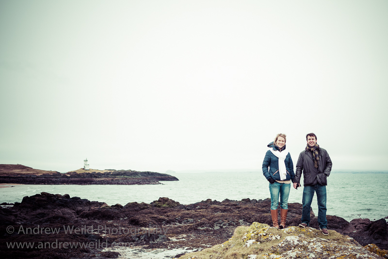 Wedding Photography Scotland Pre-Wedding Cliffside Photoshoot in Fife