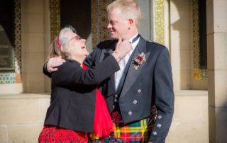 Wedding Photography Scotland Mum and Son Before the Ceremony