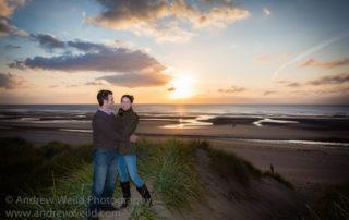 Wedding Photography Scotland Couple Engagement Photo at Aberlady