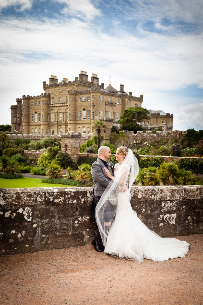 Wedding Photographer Scotland Castle and Newlyweds