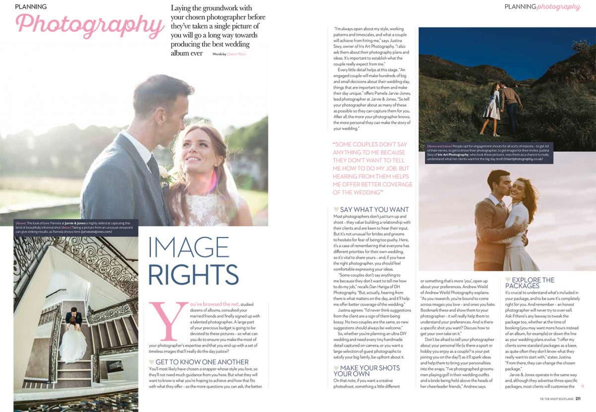 Tie The Knot Scotland wedding photography advice page 1-2