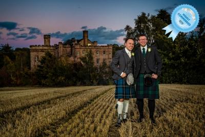 Wedding photography Dalhousie castle Scotland